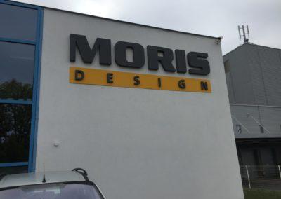 3D logo na fasádu.